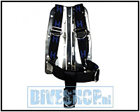 Stainless steel backplate with harness and cinch