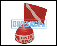 Dive flag on Float
