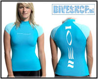 Hydroskin Short sleeve Turquoise Woman