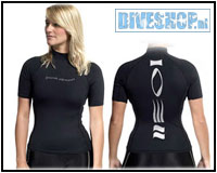 Hydroskin Short sleeve Black Woman