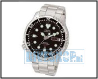 Automatic Diver Black with metal wriststrap NY0040-09EEM