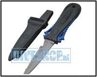 Squeeze lock titanium knife